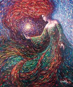 [New] The 10 Best Art (with Pictures) - Escape from the black cloud that surrounds you. Then you will see your own light as radiant as the full moon. Rumi Image Credit: Manifestation of Light -Eduardo Rodriguez Calzado Art - M. Arte Latina, Sacred Feminine, Divine Feminine, Visionary Art, Oeuvre D'art, Fantasy Art, Mandala, Fine Art, Magical Paintings
