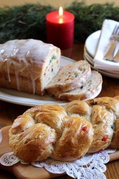Rich Fruit Bread | Fill your home with the cinnamon-rich aroma of the holidays with this festive holiday bread.