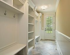 If I had a mudroom- Built in wall hooks, shelves, benches, storage!