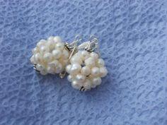 Wedding Pearl Earringslittle Bunches by JoJosgems on Etsy