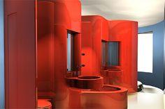 7th Floor, Hotel Puerta America, Madrid, (2005) from Interior Architecture Now Book Jennifer Hudson p.30