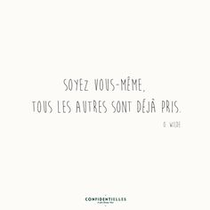 Discover recipes, home ideas, style inspiration and other ideas to try. Some Quotes, Words Quotes, Sayings, French Words, French Quotes, Counseling Quotes, Oscar Wilde Quotes, Quote Citation, Slogan Tshirt