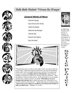 Spiritual Works of Mercy | Catholic saints for kids, Works