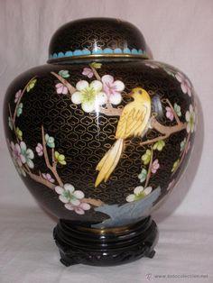Ginger jar o Jarrón cloisonne en bronce. JARRON CHINO EN CLOISONNE. JARRON CHINA ( vendido, sold)
