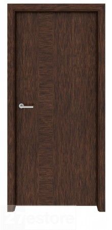 The vertical lines of the door will help make the room seem even bigger, while the natural wood will add warmth and elegance  #doors #walnut #interior