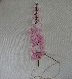 fox gloves in silk ribbon embroidery