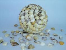 Como fazer uma bola de conchas, uma topiaria do mar