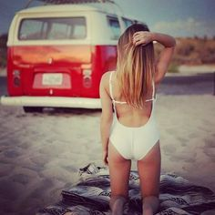 sometimes you just need to take an adventure in a cherry red vw bus and play in the sand Volkswagen Minibus, Vw T1, Vw Passat, Hot Vw, Bus Girl, Combi Vw, Vw Vintage, Vans Girls, Vw Camper