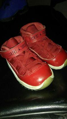 64c2ec3470 Nike Air Jordan 11 XI Retro BT Toddler Infant 96 378040-623 GYM Red Size 6C  #fashion #clothing #shoes #accessories #kidsclothingshoesaccs #unisexshoes  (ebay ...