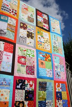 I spy quilt in bordered rectangles