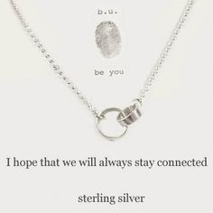 b.u. I Hope We Will Always Stay Connected Necklace