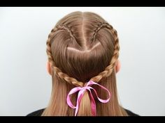 Lace Braid Heart | Valentine's Day | Cute Girls Hairstyles - YouTube