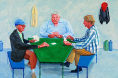 David Hockney - Card Players # 1, 2014