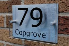 House Number Sign/Plaque Brushed Aluminium & AcrylicGOS03N--Personalised Sign, http://www.amazon.co.uk/dp/B007S9I1YS/ref=cm_sw_r_pi_awdl_vy11tb18CH4FG