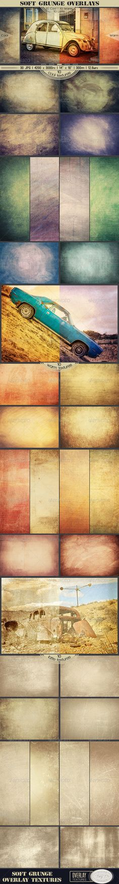 Soft Grunge Overlay Textures - Industrial / Grunge #Textures Download here: https://graphicriver.net/item/soft-grunge-overlay-textures/7489807?ref=alena994
