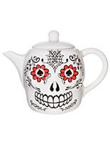Day of the Dead Sugar Skull Teapot