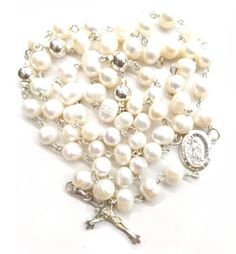 Perlas Naturales y Acero Natural, Pearl Earrings, Jewelry, Cruise, Rosaries, Pearls, Store, Pearl Studs, Jewlery