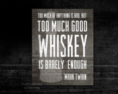 Good Whiskey Bar Decor Art Print Typography by hairbrainedschemes