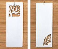 Paper cut bookmarks (dry erase boards by A Little Hut)