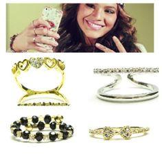 Anel delicado duplo e anel falange distal. Quem não quer ter anel igual da Bruna Marquezine? #aneldelicado #anelfalange #anelfalangedistal #anelcoraçao #loucasporbijoux