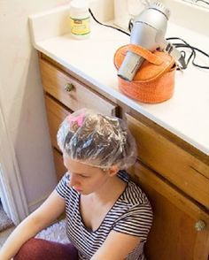 Comment faire pour chauffer un bonnet de douche après avoir appliqué un masque revitalisants pour cheveux secs et abîmés ?