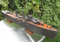 Bassett Lowke destroyer F7 1930s boat battleship Bing 40 inches pond yacht  | eBay