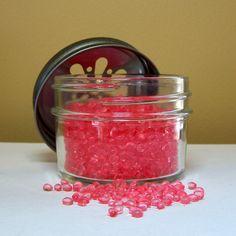Pink Sugar Air Freshener in Jelly Jar, Pink Aroma Beads