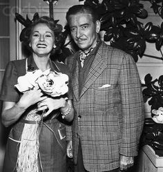 Ronald Colman with his second wife Benita Hume