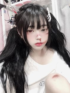 "히키/HIKI on Twitter: ""흑과백 온도차 쥐리는 ㅋㅋ 그냥 바보같기도하고..… "" Cute Korean Girl, Cute Asian Girls, Cute Cosplay, Best Cosplay, Aesthetic Girl, Aesthetic Makeup, Japonese Girl, Artsy Photos, Uzzlang Girl"