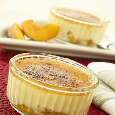 Peach and Vanilla Crème Brûlée recipe