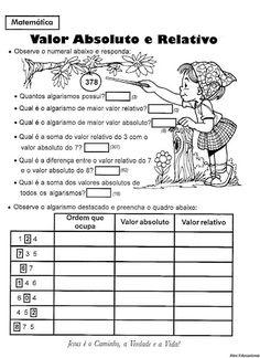 Ensinando com Carinho: Atividades de Matemática 4º ano Professor, Journal, Teaching, Math, Blog, Absolute Value, Letter C Activities, Tens And Units, Math Lessons