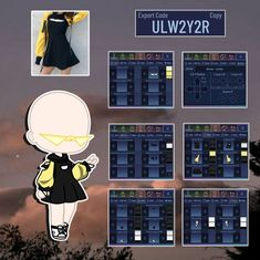 Club Design, Game Design, Anime Chibi, Kawaii Anime, Club Outfits, Girl Outfits, Club Hairstyles, Clothing Sketches, Fashion Design Drawings