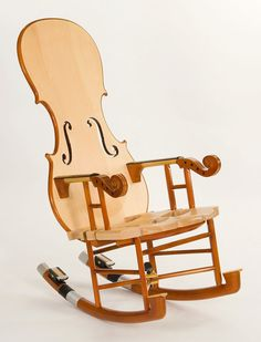 Now here's some cool and unique craftsmanship!  Love Etsy!    Fiddle Rocker No 3 by ThomasOrnerCreations on Etsy, $5300.00