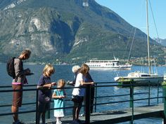 When we were walking past this dock, this elderly lady ran out to see the kids. Northern Italy, Lake Como, Oh The Places You'll Go, Como Italy, Homeschooling Resources, Happy Family, Mountains, Travel, Viajes
