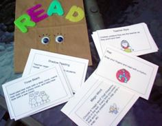 Fluency 1: This is a bag filled of cards. Each card is a way in which students should read a story with expression. For instance, cards would say teacher style, a rap, etc. By doing specific things with a single story and manipulating it with a single factor can tremendously help a student increase his or her fluency.