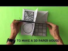 krokotak | How to Make a 3D Paper House-use magazine to add windows and doors