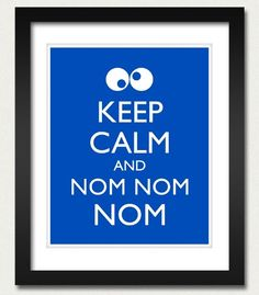 Cookie Monster  Keep Calm and Carry On Poster  by happylandings, $10.00