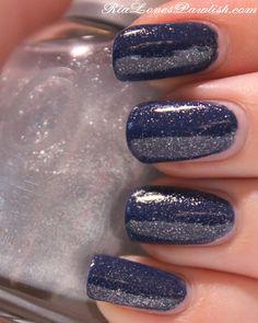 Orly Twilight over Sally Hansen complete Salon Manicure Thinking of Blue