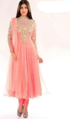 Pink Frock with Churidar Pajama for Girls Desi Love, Indian Outfits, Indian Clothes, Indian Colours, Girls Pajamas, Fashion Beauty, Womens Fashion, Prom Dresses, Formal Dresses