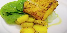 Try this Tandoori spiced halibut fillets with cucumber recipe by Chef Gordon Ramsay. This recipe is from the show The F Word.