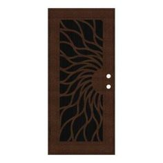 Visit The Home Depot To Buy Unique Home Designs Sunfire 36 In. Copperclad  Left Handed Recessed Mount Aluminum Security Door With Charcoal Insect  Screen Part 52