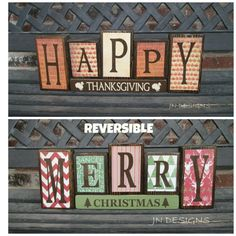 Thanksgiving is about celebrations and food. Thanksgiving is a great time to redecorate your property. Thanksgiving is the ideal time to appreciate th. Fall Crafts, Decor Crafts, Holiday Crafts, Arts And Crafts, Diy Holiday Blocks, Craft Day, Craft Night, Christmas Projects, Christmas Diy