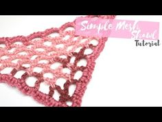 How to crochet a Half Granny Square shawl - © Woolpedia - YouTube