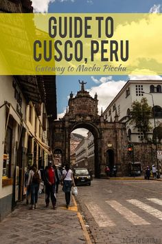 The magical city of Cusco, Peru is one of my favorite cities in all of Peru. There is so much to do here, and it certainly warrants a stop to explore even if you weren't headed to the famous ruins. Peru Travel, Mexico Travel, Travel Tips, Travel Guides, Travel Articles, Travel Stuff, Wanderlust Travel, Backpacking South America, South America Travel