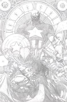 Captain America and Moon Knight by David Finch #davidfinch #captainamerica #moonknight