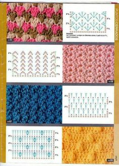 Some crochet stitches