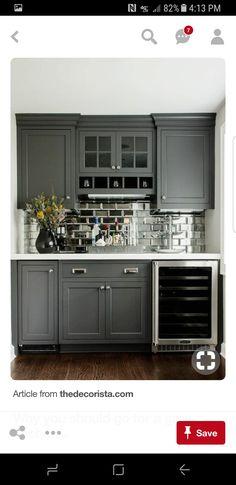 Awesome Mirrored Kitchen Backsplash Modular and Mini Kitchens