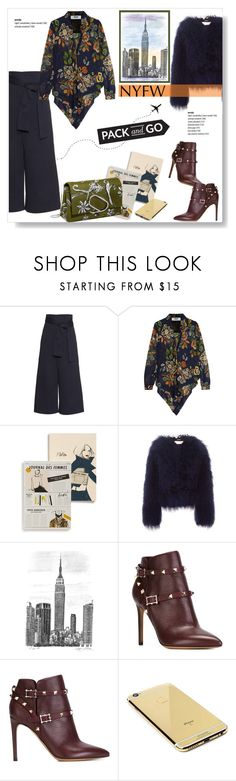 """""""Pack for NYFW!"""" by viola279 ❤ liked on Polyvore featuring TIBI, MSGM, Rifle Paper Co, Chloé, Valentino, Goldgenie, women's clothing, women, female and woman"""