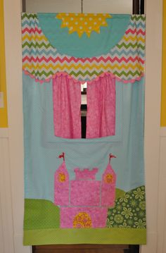 Made to order Pink  Castle  Doorway Puppet Theater ... by GracieFrancesDesign on Etsy https://www.etsy.com/listing/165762030/made-to-order-pink-castle-doorway-puppet