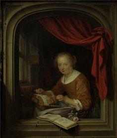 Gerrit Dou Lacemaker. 1667 г.